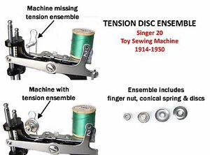 Singer 20 Toy Child#x27;s Sewing Machine Parts TENSION SPRING DISC ENSEMBLE $21.95