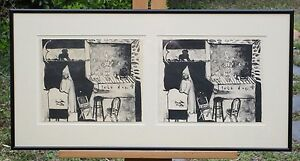 2 vintage Lithographs Signed and Dated by Lesta Frank 1965 Framed amp; Matted $145.00