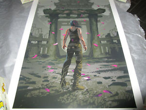 Tomb Raider ANDREW RYAN NO TURNING BACK Giclee Official Print Lithograph #36