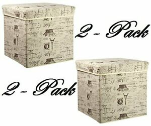 Home Basics Storage Ottoman Paris