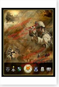 US Army Special Operations Command USASOC 15th Anniversary Poster
