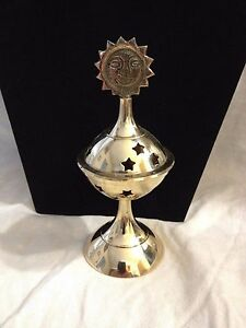 Brass Sun Incense Burner Wiccan Pagan Metaphysical