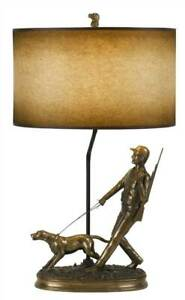 30.5 in. Resin Table Lamp in Cast Bronze [ID 3808044]