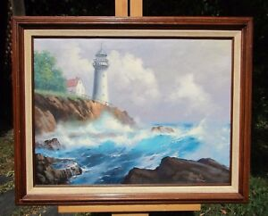 Buck Paulson Signed Lighthouse Painting $410.00