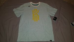 NIKE KYRIE IRVING DRI-FIT T-SHIRT GREEN WHITE YELLOW 835757 100 3XL 3X-LARGE NEW