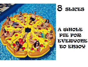 Whole Pizza Pie (8)Slices  Swimming Pool Floats Inflatable Lounge