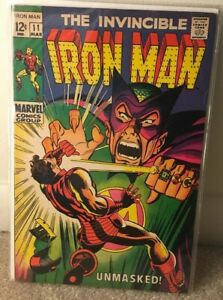 "Iron Man #11 ""Unmasked!"" VF (1969, Marvel) Mandarin appearance KEY ISSUE"