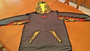 Boys Youth XL Under Armour Loose fit Hoodie NFL Combine Black Yellow Orange Camo $19.99