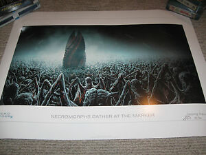 DEAD SPACE Necromorphs Gather Marker Limited Edition Lithograph Art Print #54 $199.75