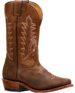 Boulet Women's Challenger Carnaza Antick Cafe Cowgirl Boot - Cutter Toe - 7701