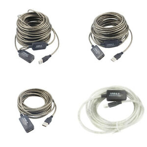 USB EXTENSION Cable Male To Female Extention High Speed 2.0 Extra Long Cable