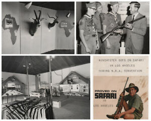 Guns NRA  Winchester Rifle 1964 N.R.A Convention Scrapbook Proved on Safari