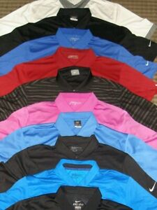 LOT 10 - NIKE TOUR PERFORMANCE DRI-FIT FIT-DRY POLY SS POLO SHIRTS SZ. XL