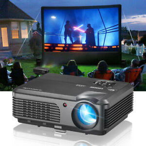 LCD Home Theater HD Video Projector Multimedia Party Sport Wired Sync HDMI VGA