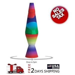 Lava the Original 14.5-Inch Colormax Lamp with Rainbow Decal Base