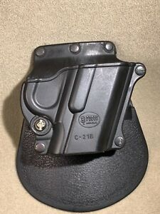 Fobus C-21B Black Compact Paddle Holster for  Colt 45 Gov't & All 1911 Style