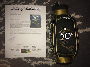 Arnold Palmer Signed Auto Mini Golf Bag 50th Anniversary at the Masters PSA DNA $699.99