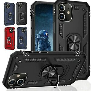 For iPhone 13 12 11 Pro 6 7 8 Plus XS Max XR X SE Mini Case Kickstand Ring Cover $7.97