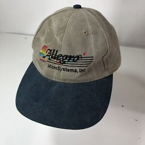 Vintage Allegro MicroSystems, Inc Strapback Hat Cap Khaki Blue Computers