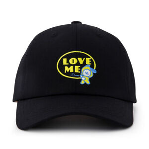 [BT21] CHIMMY Lettering Ball Cap Black 100% Authentic BTS Free Shipping