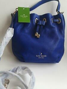 Kate Spade of York New with Tags Cobble Hill Blue Leather Cross body