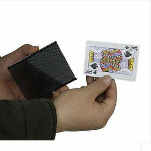 Popular Card Vanish Illusion Change Sleeve Close-Up wow card Magic Trick props