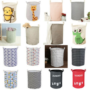 USA Laundry Basket Bag Foldable Cloth Linen Washing Clothes Hamper Storage Toys