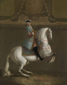 Oil painting ancient male figures gentleman ride white horse race horserace 36quot; $69.99