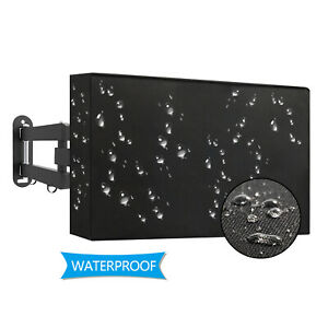 Black Waterproof Dustproof Outdoor TV Cover Protector For 46-48