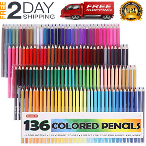 NEW Colored Pencils Box Of 136 Colors Varied 0s Of The Best Quality
