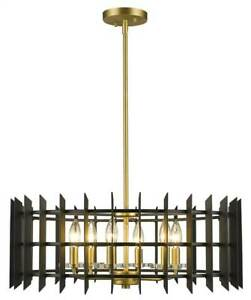 6-Light Pendant in Satin Brass Finish [ID 3734842]