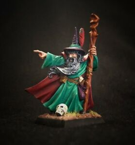 Painted Ancient Male Mage from Games Workshop Miniatures metal wizard character $199.99