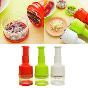 Handheld Onion Garlic Food Slicer Chopper Cutter Peeler Grater Dicer Press NEW
