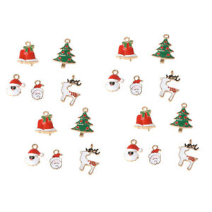 20pcs Christmas Theme Pendant Charms accessory DIY Jewelry Findings Craft
