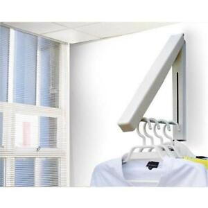 Foldable Stainless Steel Drying Wall Mounted Laundry Rack Folding Hanger BL3