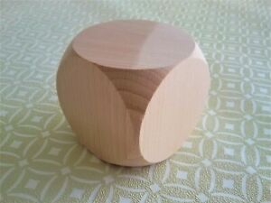 Extra Large Wooden Dice Natural amp; Unpainted Blanks 60mm