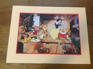 Disney Lithograph. Snow White and the 7 Dwarfs. Exclusive Commemorative 1994. $9.98