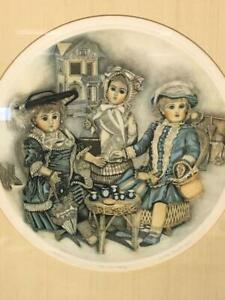 The Tea Party Lithograph Antique Doll Print Cynthia Knapton LE Signed Framed VTG $99.99