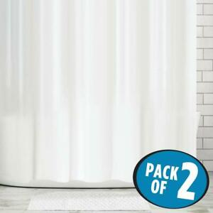 2 Pack Heavy Duty Shower Curtain Liner Mold and Mildew Resistant Waterproof
