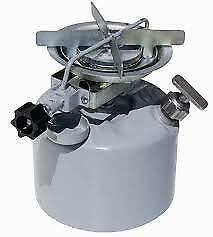 Camping stove on gasoline Camping in the nature outdoors Cooking portable stove
