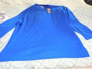 Foundry NWT Size 3XL and 3XLT Racing Blue Quick Dri Shirt $9.00