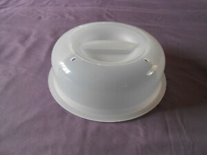 Tupperware microwave plate cover prevents splatters vented no mess guard NEW