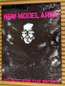 New Model Army RARE 1985 Vintage UK Poster Original No Rest For The Wicked Punk
