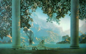 Daybreak Maxfield Parrish repro oil painting