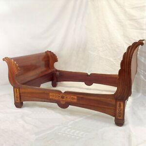 Biedermeier Empire Bed Mahogany Vintage Sofa Design Lounger Bedroom Vienna