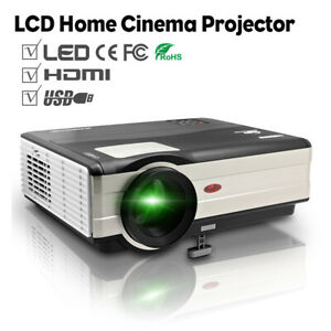 HD Video Home Theater Projector LCD Multimedia Backyard Movie Gaming HDMI USB