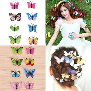 5pcs Butterfly Hair Clips Bridal Hair Accessories Wedding Photography CostSN