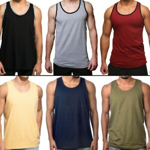 Men Tank Top Camo Sleeveless Gym A Shirt Solid Workout Fitness Beach Army Muscle $28.95