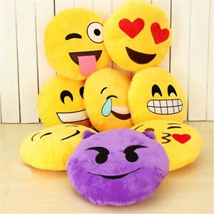 Emoji Pillows Soft Plush Stuffed Full Collection Cushions 1PACK (Style May Vary)
