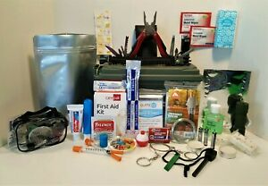 Survival Kit Over 100 Pieces!  Emergency Earthquake Tactical Zombie  Hurricane